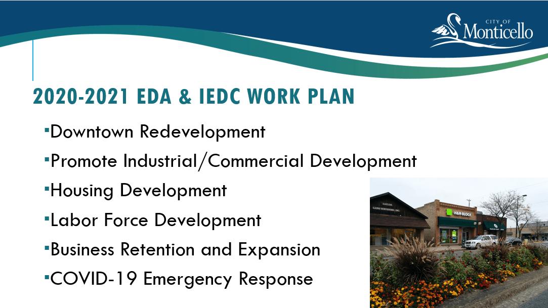 2020-2021 EDA & IEDC WORK PLAN