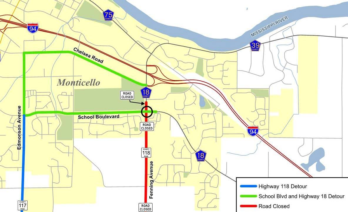 A new detour will be in place utilizing Chelsea Rd. and Edmonson Ave. (map of new detour).